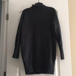 Dark Gray Turtleneck Cozy Express Dress